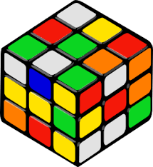 Picture of a mixed up rubiks cube